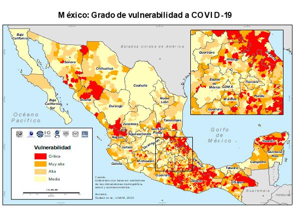 UNAM realiza mapeo por municipio ante COVID-19
