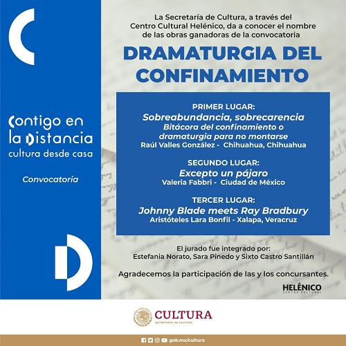 Secretaría de Cultura da a conocer resultados de convocatoria