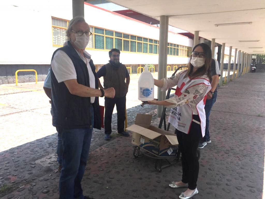 La Cruz Roja agradeció esta donación de gel