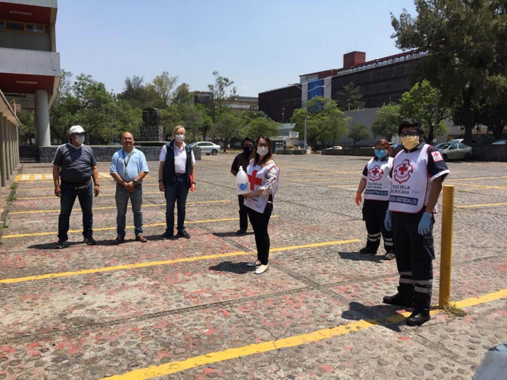 UNAM donó gel antiséptico a Cruz Roja