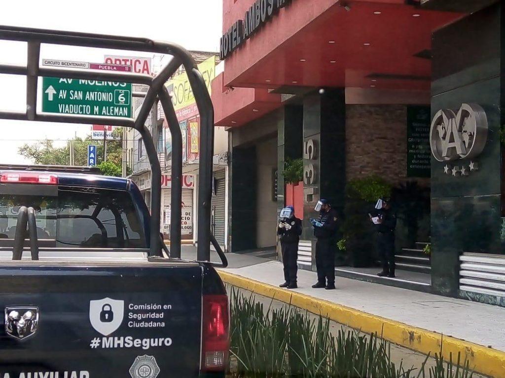 Los patrullajes se harán en los alrededores del Hotel Tacuba