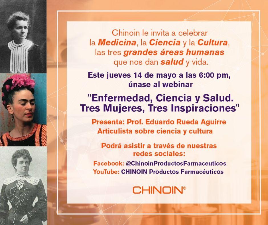 El webinar de Chinoin rendirá homenaje a las mujeres médicos