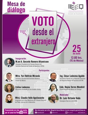 Fundamental incentivar Voto desde el Extranjero: IECM