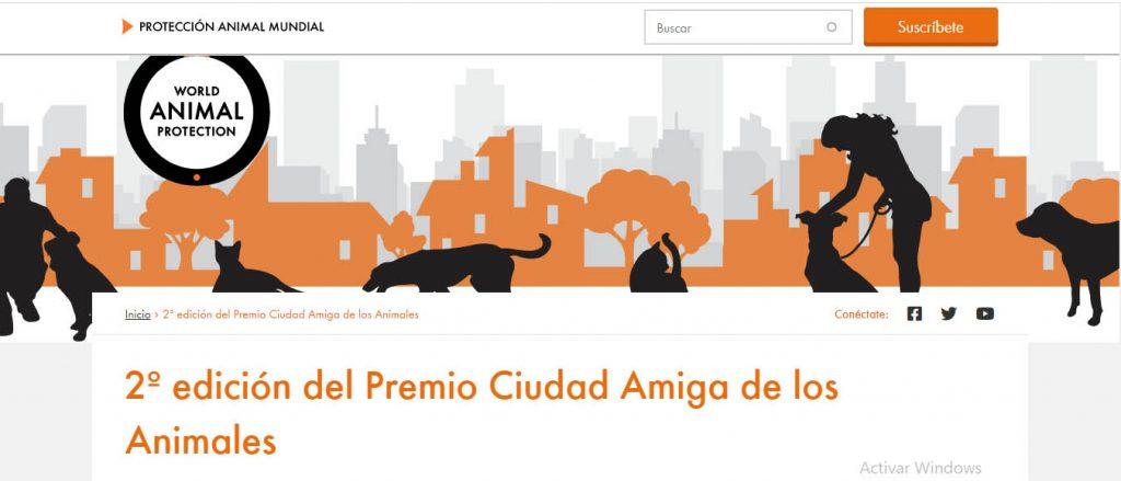 Convocan a la 2º edición del Premio Ciudad Amiga de los Animales
