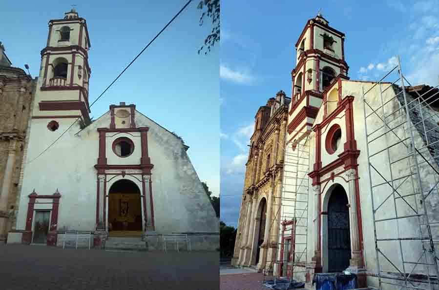 Continúa recuperación de patrimonio dañado por sismos