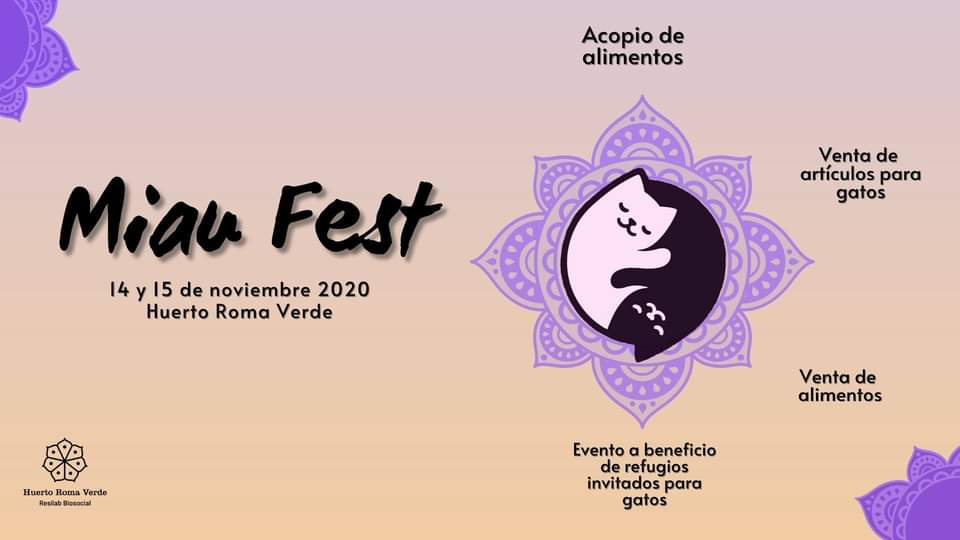 Miau Fest en el Huerto Roma Verde