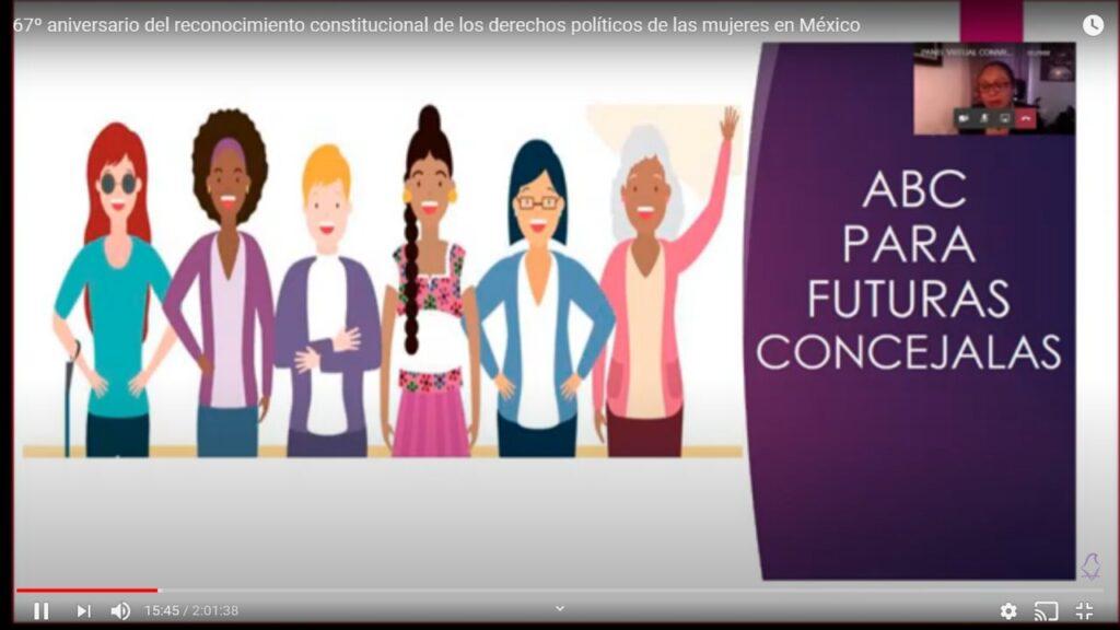 Conmemoran el 67 Aniversario del Voto Femenino