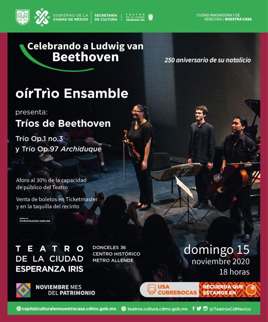 Oír Trío Ensamble: celebra los 250 años de Beethoven