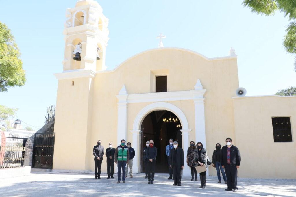 Restauran parroquia de Santa María Nativitas  Xochimilco