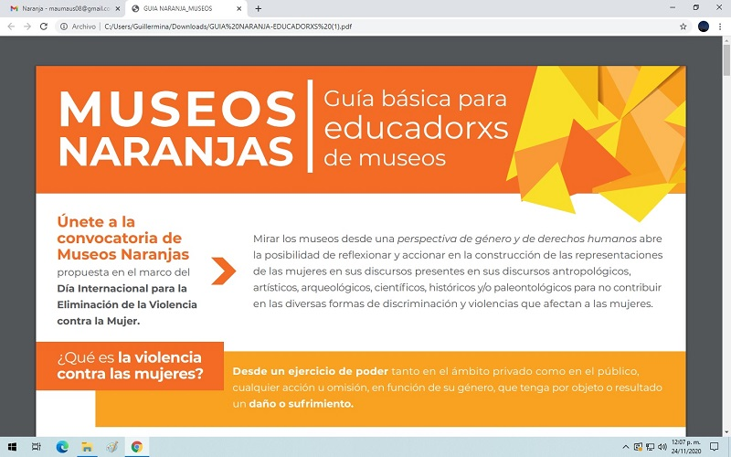 Museos Naranjas visibilizan la violencia contra la mujer