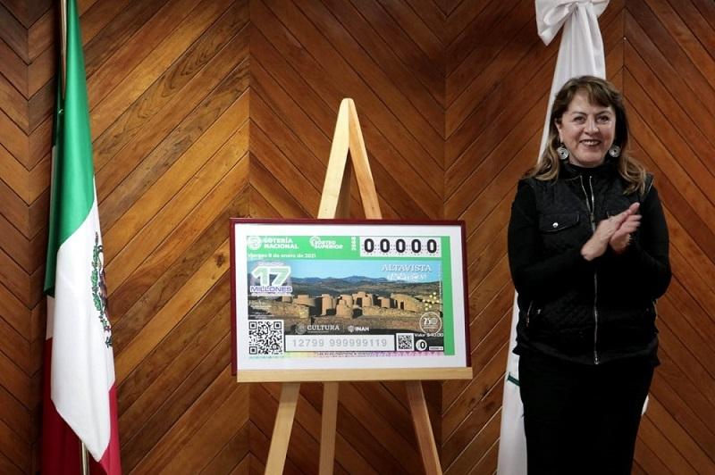 Develan billete de lotería de  Zona Arqueológica Altavista