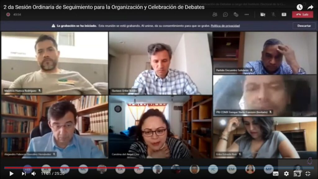 Organizarán 51 debates de candidaturas rumbo a elección