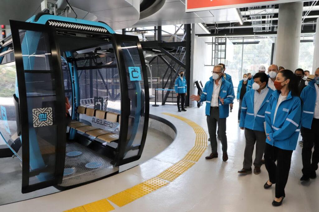 Inauguran tramo de línea 1 de Cablebús en Cuautepec