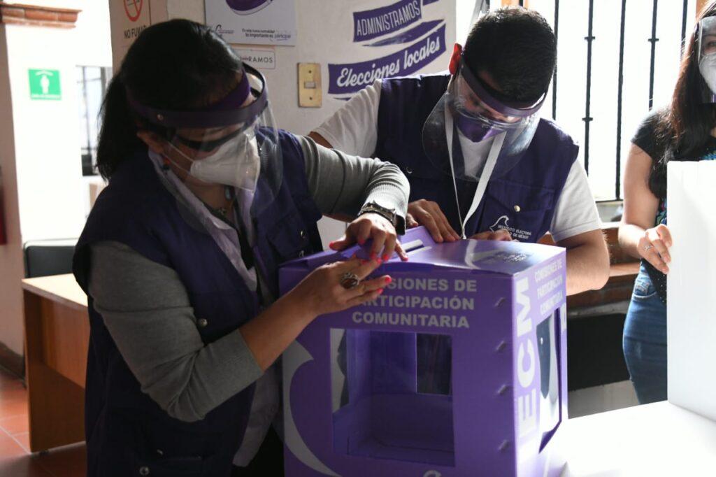 Realizan simulacro de votación de Jornada Electiva