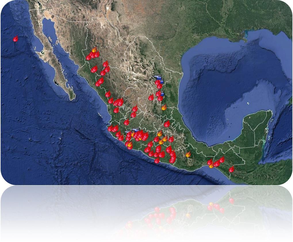 Se registran 87 incendios forestales activos