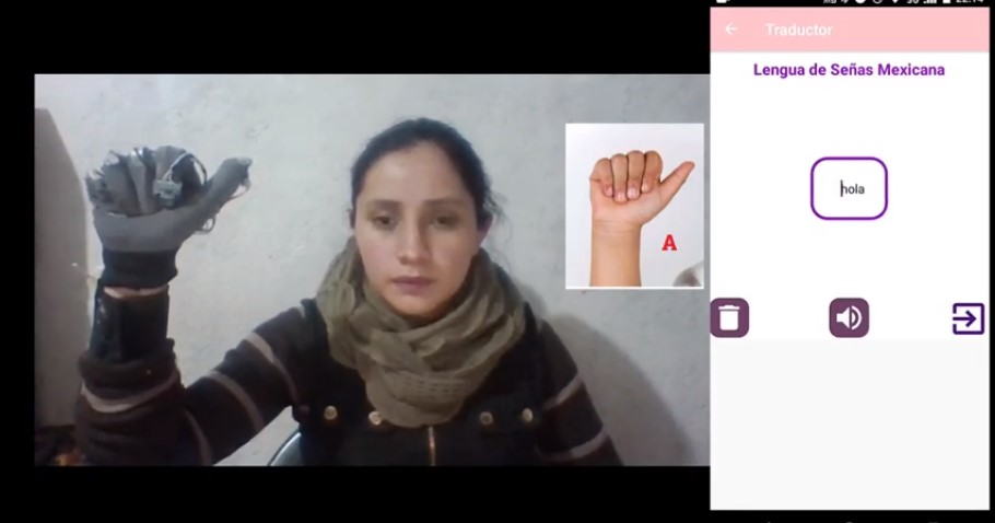 Crean guantes traductores  de lengua de señas mexicana