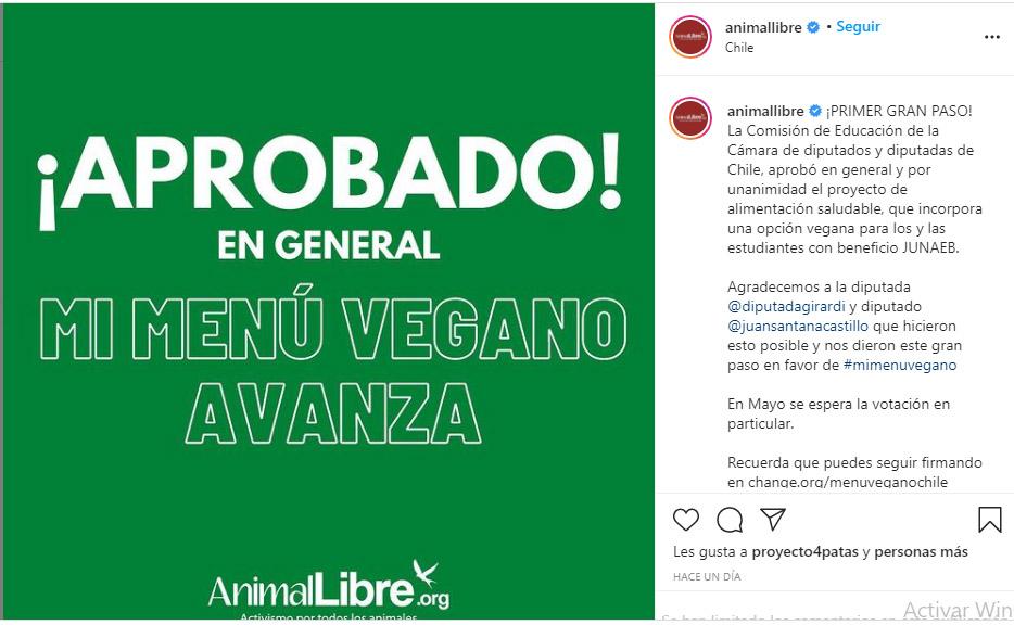 Desayunos escolares para niños en Chile serán veganos