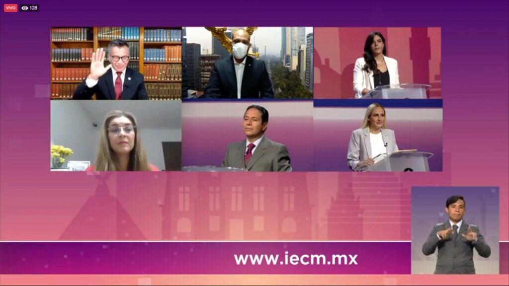 Realiza IECM primer debate entre candidaturas