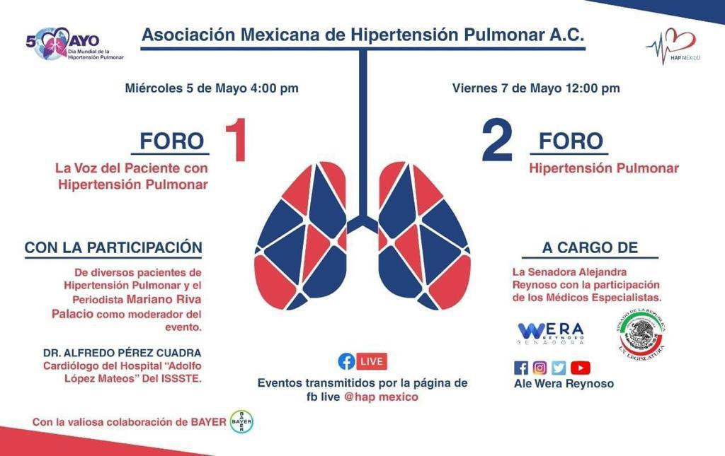 Lista la Semana Nacional de la Hipertensión Pulmonar