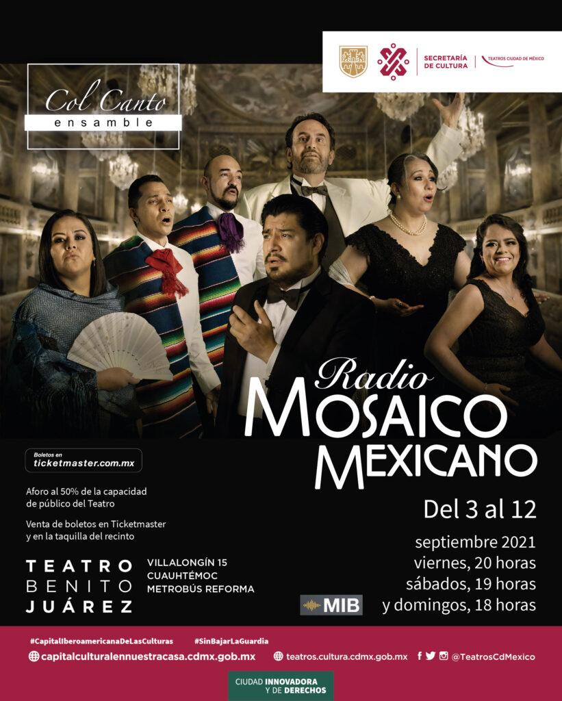 Ensamble Col Canto presentará Radio Mosaico Mexicano
